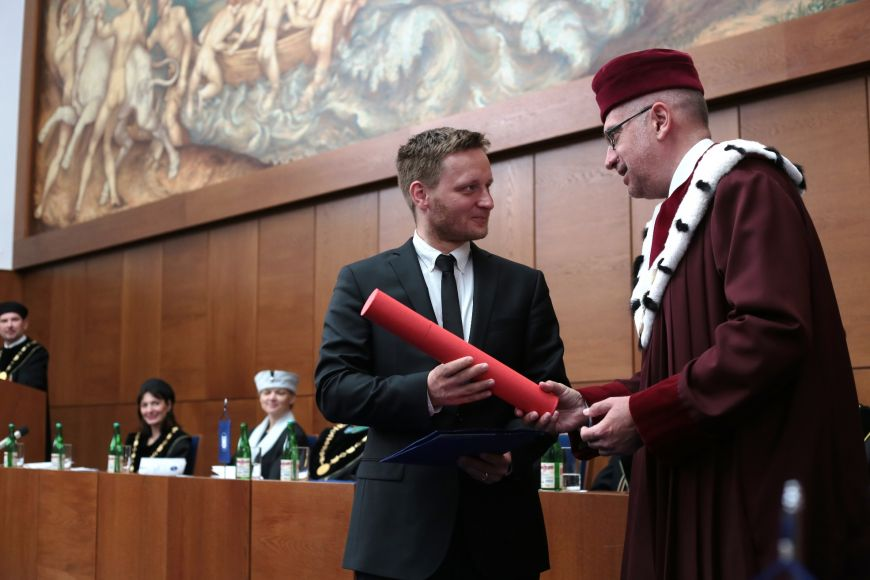 Rector's Award for Outstanding Creative Activity went to David Kosař from Faculty of Law.