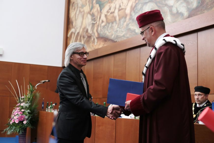 Rector's Award for Outstanding Artistic Activity went to Jiří Sobotka from Faculty of Education.