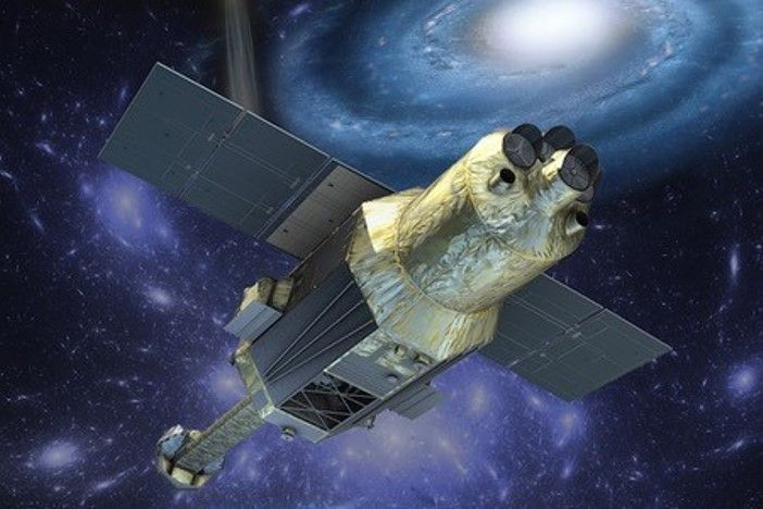 Vizualizace družice Hitomi.