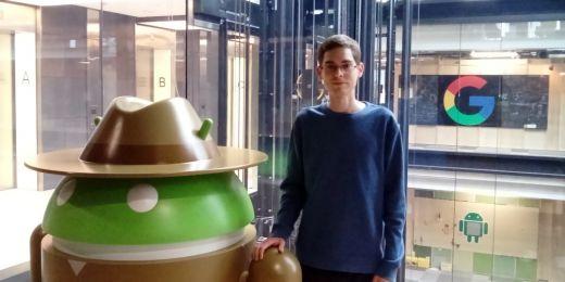 Tomáš Effenberger na stáži v londýnské pobočce společnosti Google.