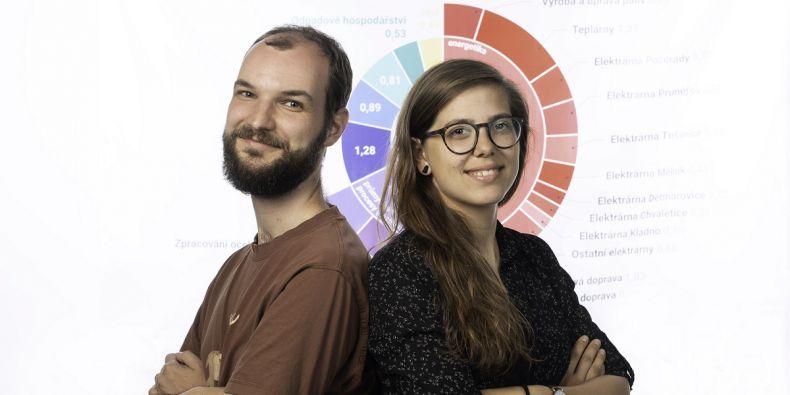 Informatici Kristína Zákopčanová a Martin Ukrop.