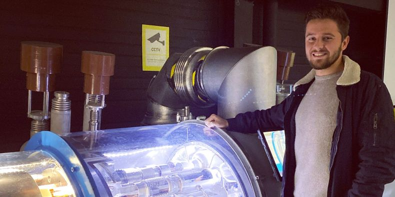 Filip Široký v CERN.
