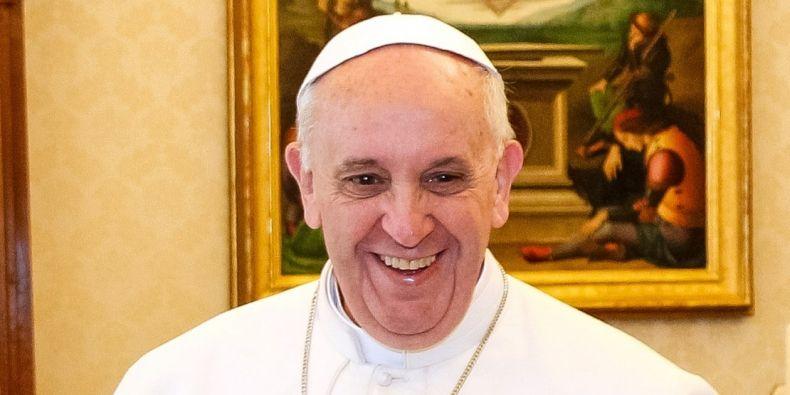 Nově zvolený papež František při mši 13. března ve Vatikánu.