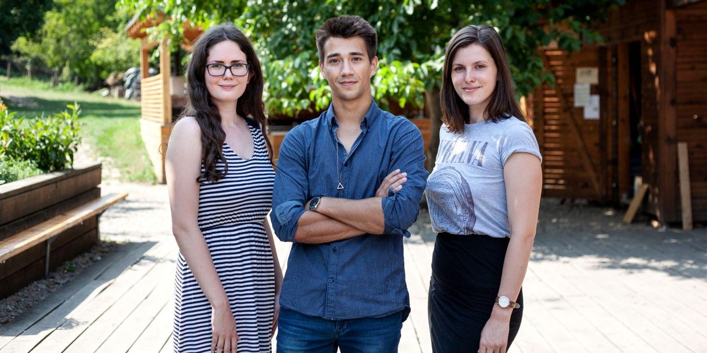 Studenti Anna Kocourková, Dalibor Jirda a Petra Hubátková.