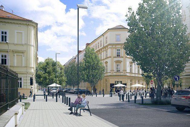 Na Gorkého aArna Nováka přibudou třeba lavičky astojany pro kola avzniknou nové přechody amísta pro předzahrádky.