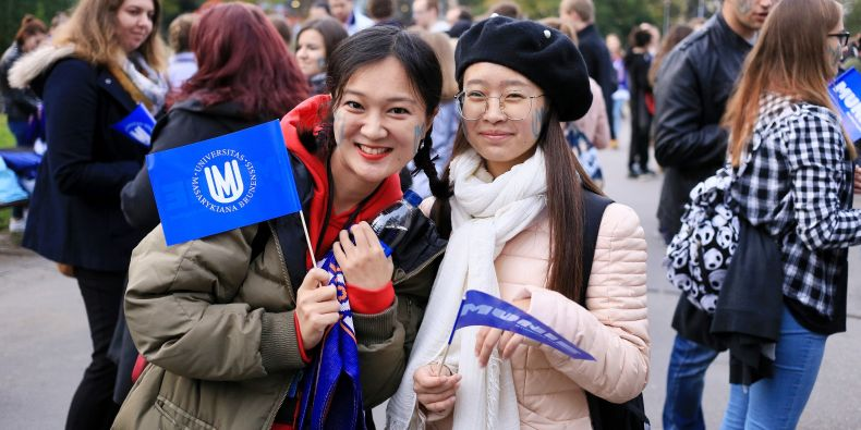 The excitement was visible as fans gathered with their faces baring the blue MU logo and wearing their school paraphernalia in the city center for the parade.