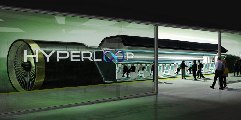 Koncept hyperloopu.
