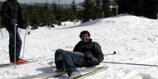 I am not used to such type of climate and the winter is terrible for me. On the other hand, Iwas invited to mountains and learned cross country skiiing, says Nagender Reddy Panyala. Photo: J. Havel.