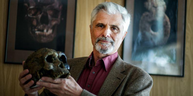 Jiří Svoboda, co-author of a study published in Nature, heads the research base in Dolní Věstonice.