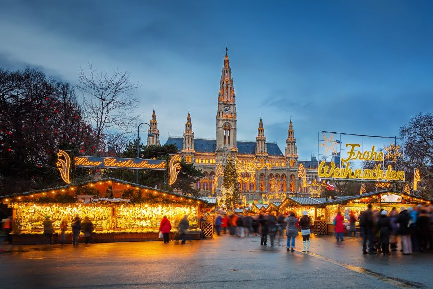 Famous Christmas markets at Vienna.