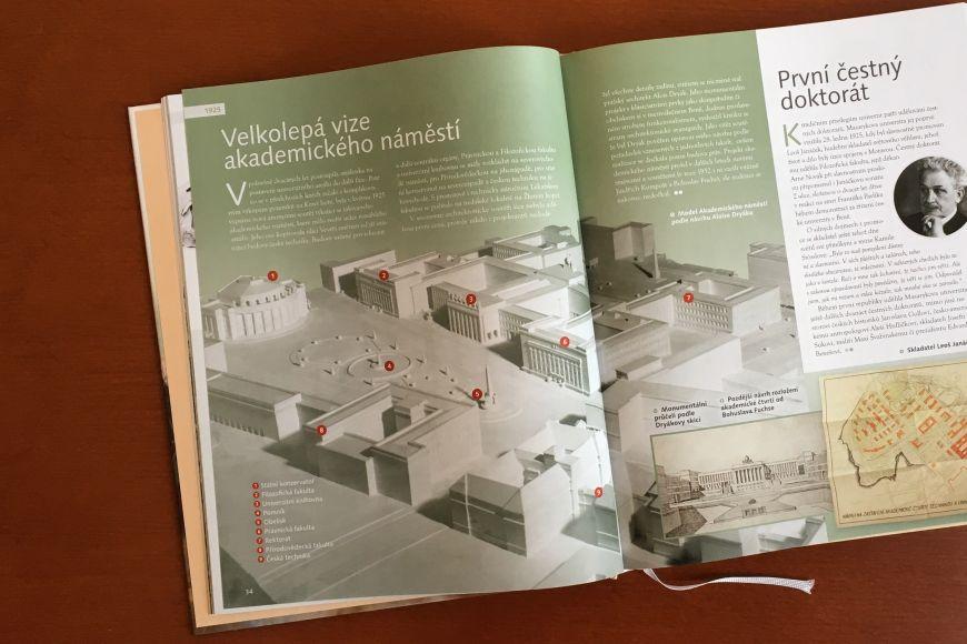 Ukázka zknihy Kalendárium Masarykovy univerzity 1919–2019.