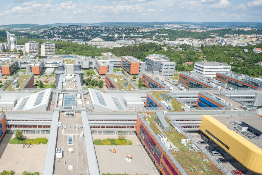 Modern yet green. One part of Masaryk University is situated in Campus Bohunice on the hill above the city of Brno.