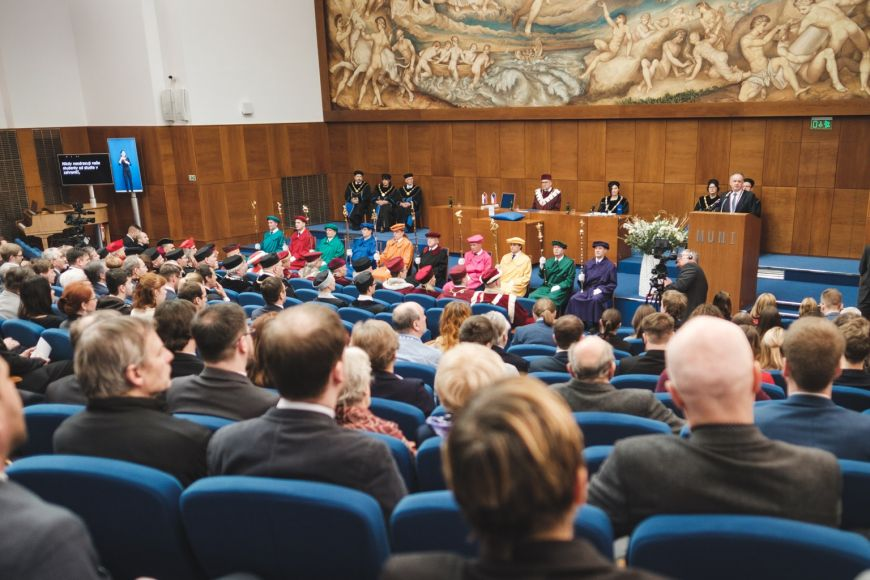 Projev prezidenta Andreje Kisky vaule na právnické fakultě.