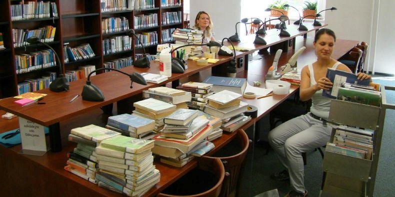 Při rekonstrukci se provádí také revize knihovního fondu.