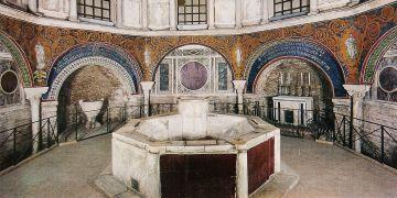 Jednou ze zkoumaných pozdně antických staveb bude Baptisterium Ortodoxních v Ravenně.