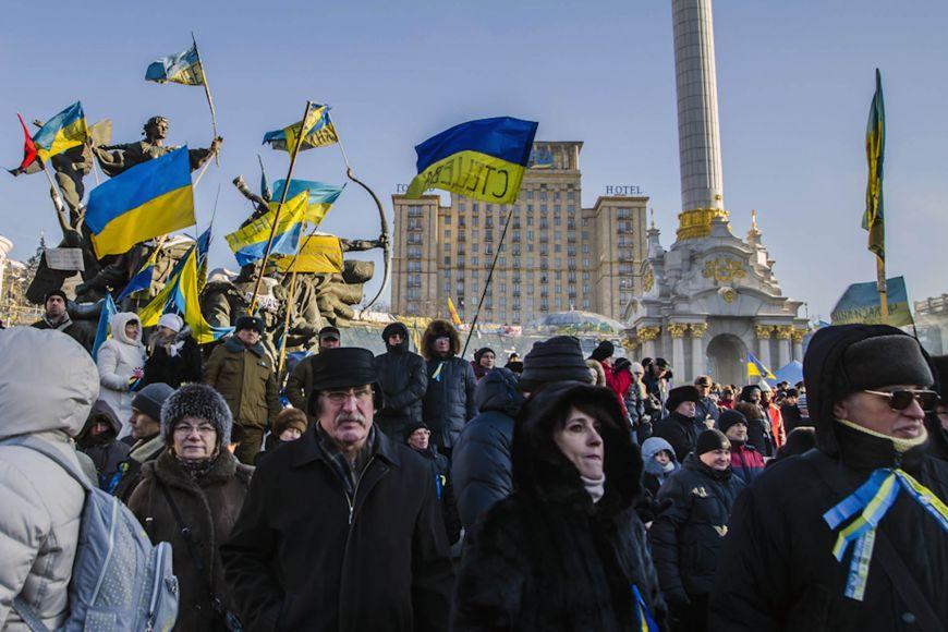 Atmosféru vukrajinském Kyjevě na přelomu ledna aúnora zachytil fotograf Martin Kopáček.