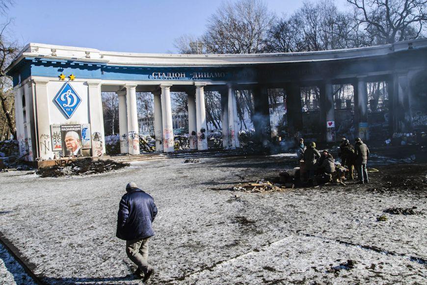Protesty vukrajinském Kyjevě na přelomu ledna aúnora zachytil fotograf Martin Kopáček.