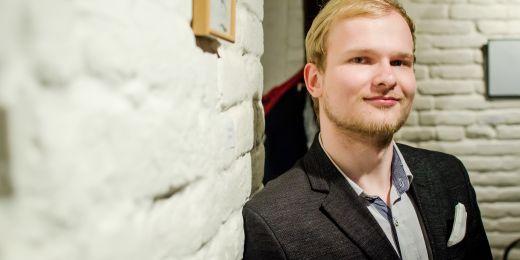 Vítěz soutěže v kategorii povídka Martin Mezenský.