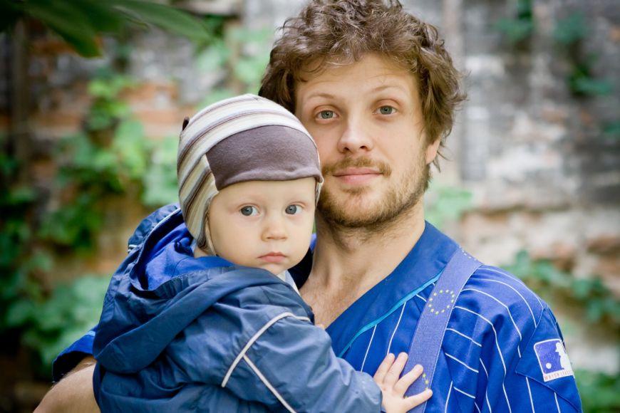 Matěj Hollan se synem Jáchymem Modřejem.