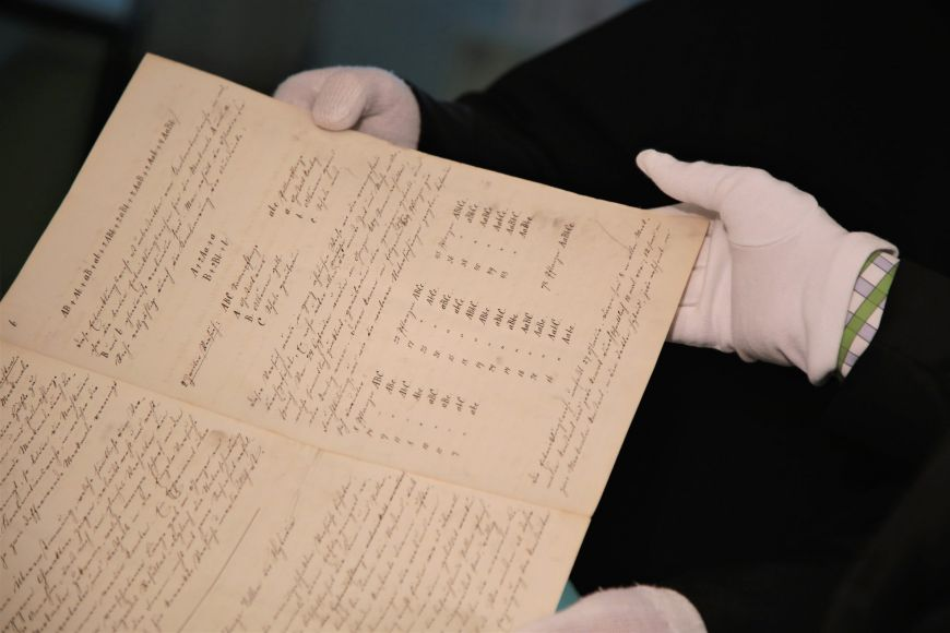 Manuscript of Experiments on Plant Hybridisation in detail.