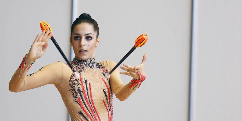 Moderní gymnastka Nataly Hamříková.