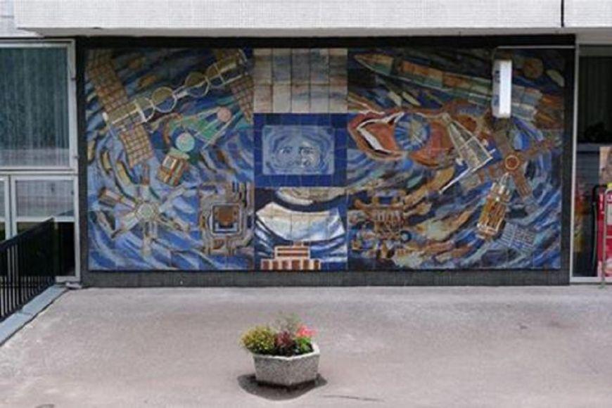 Mozaika snázvem Technika je inspirovaná dobýváním vesmíru.