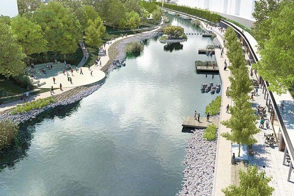 Levý břeh řeky Svratky bude po opravách, tedy zhruba za tři roky, vybaven kolonádou aterasami, pravý břeh bude blíže přírodě.