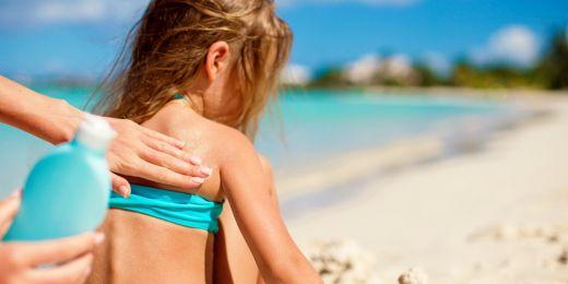 Dětská pokožka potřebuje větší ochranu před sluncem.