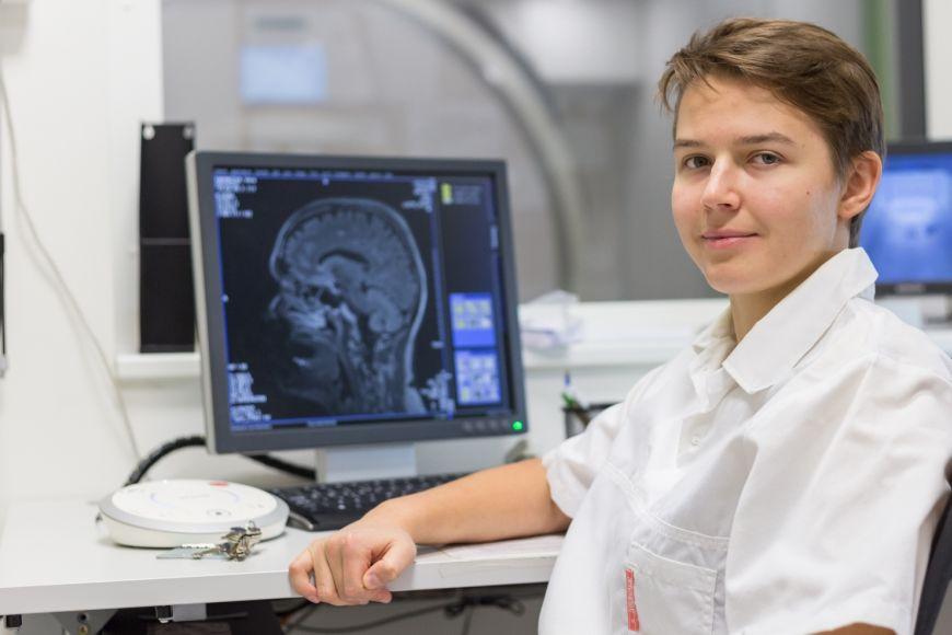 V prvních semestrech zabíralo Patrícii Klobušiakové měření pacientů spoustu času, jakmile se ale naučila zpracovávat data, věnuje se už hlavně analýze.