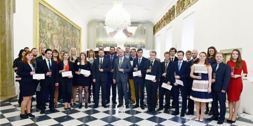 Všichni vyznamenaní studenti v rámci Brno Ph.D. Talent a hosté.