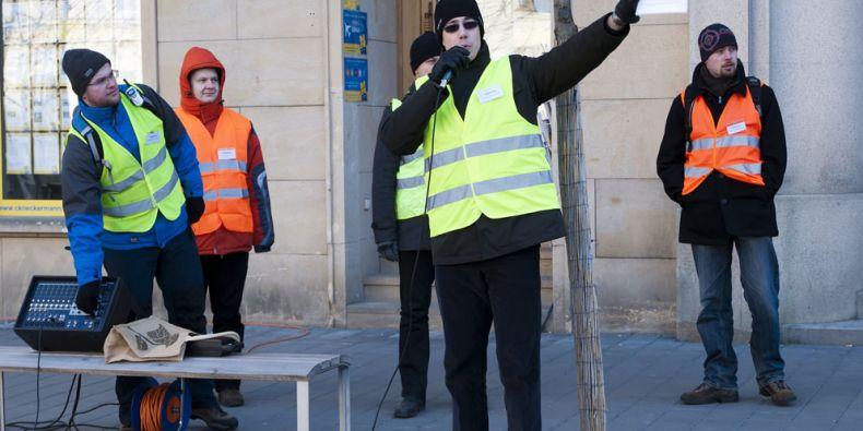 Protestní akce v ulicích Brna nejsou v poslední době ničím výjimečným. Ilustrační foto: archiv muni.cz.