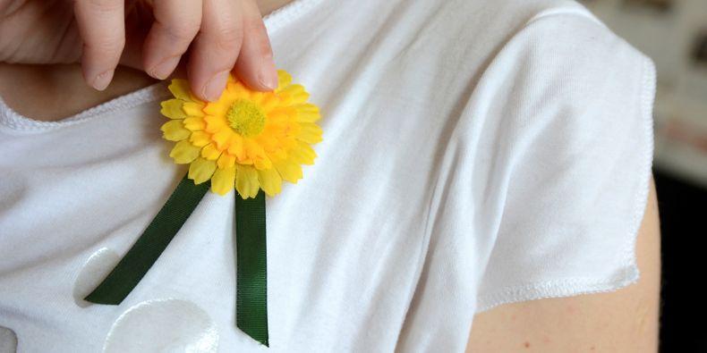 Květy měsíčku lékařského, které ve středu 14. května zaplavily ulice měst při Českém dnu proti rakovině.
