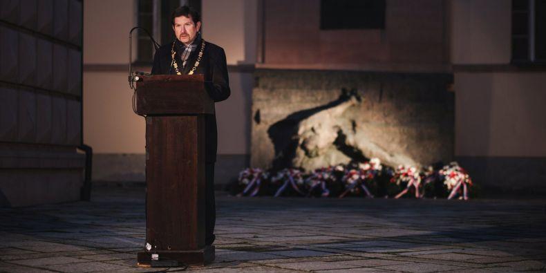 Rektor Martin Bareš v Kounicových kolejích.