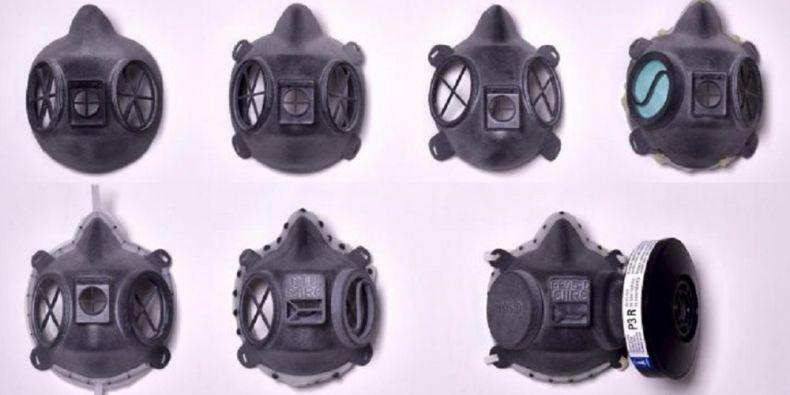 "Prototyp nové ochranné polomasky ""CIIRC RP95-3D."