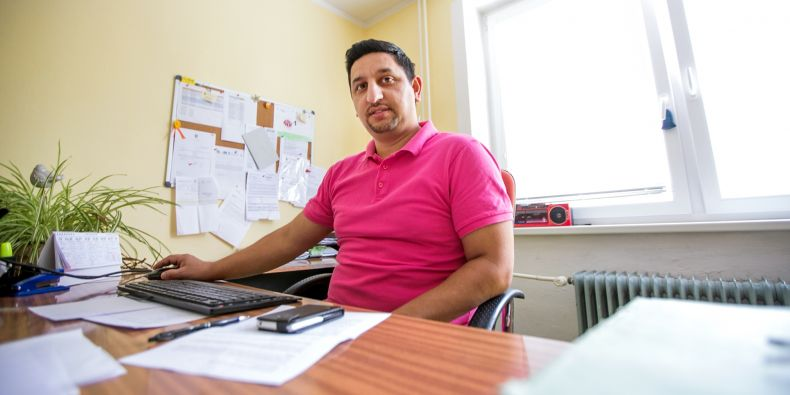 Robert Sutorý works as an outreach social worker for the town of Hranice.