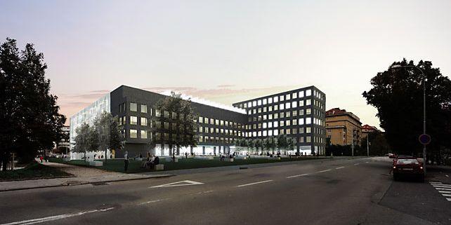 CERIT-SC je součástí rozsáhlého Centra vzdělávání, výzkumu a inovací v informatice (CERIT), jež vyroste do roku 2014 v areálu Fakulty informatiky MU v Botanické ulici v Brně. Vizualizace: CERIT.