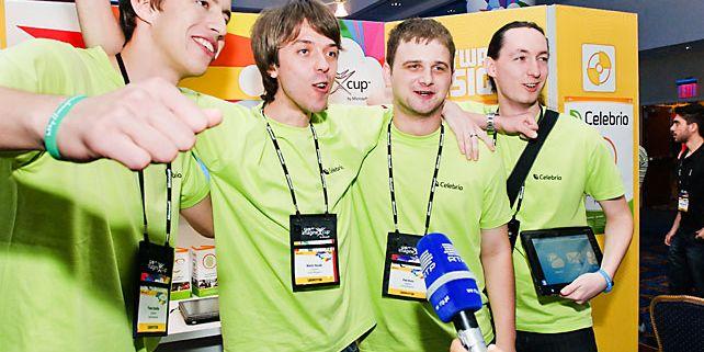 Tým studentů z Fakulty informatiky Masarykovy univerzity vyrazil se svým systémem Celebrio do New Yorku. Foto: Archiv Celebrio.