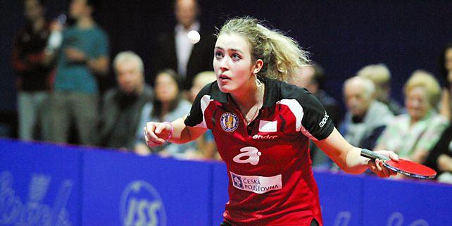 Kristýna Mikulcová si letos ve stolním tenisu zkusila i nejvyšší evropskou soutěž, Ligu mistryň. Foto: Archiv K. Mikulcové.