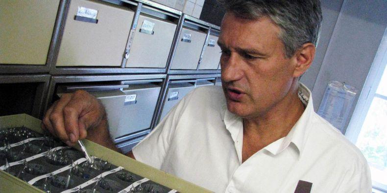 Lyofilizované mikroorganismy ukazuje vedoucí České sbírky mikroorganismů Ivo Sedláček.