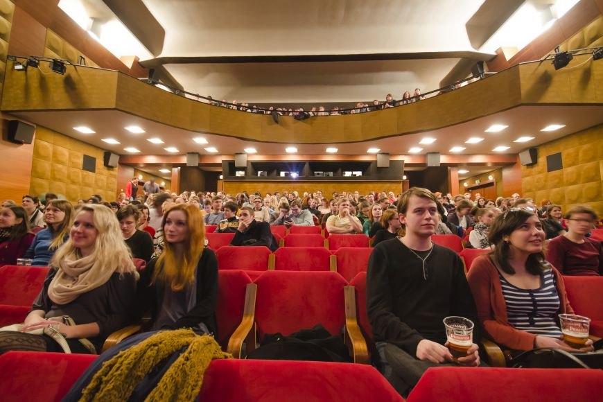 University Cinema Scala. Most movies in english and you can drink beer in here.