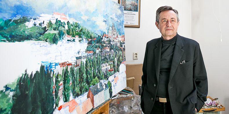 Stanislav Sedláček, malíř a pedagog na právnické fakultě.