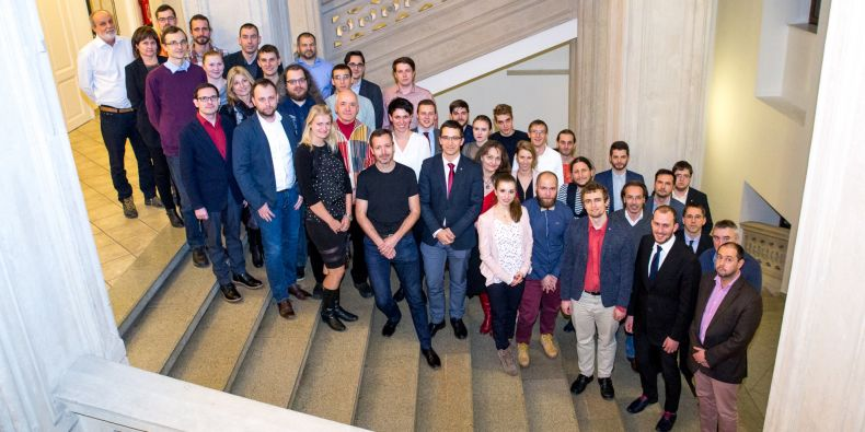 Členové Akademického senátu MU po prvním zasedání.