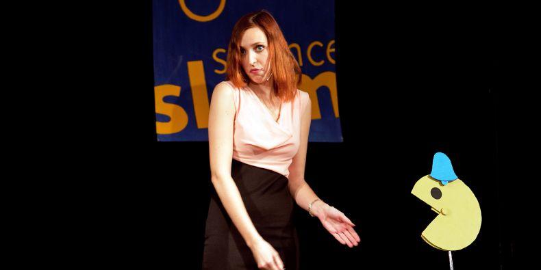 Vítězka čtvrtého Science slamu MU Iveta Minaříková.