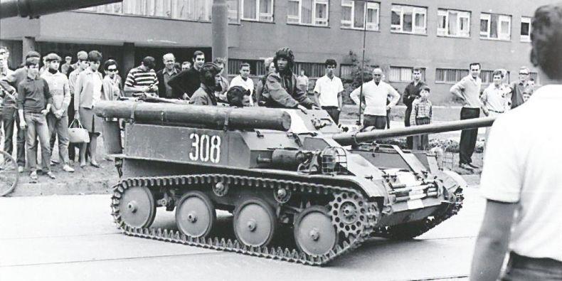 Srpen 1968 v Brně.
