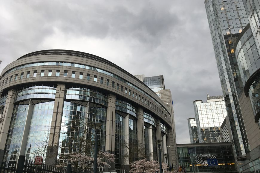 Budova Evropského parlamentu vBruselu.