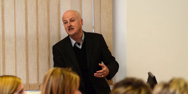 Stephen S. Ball during his lecture visit at The Department of Educational Sciences, Faculty of Arts, Masaryk University.
