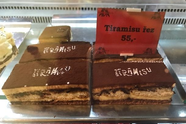 My favorite tiramisu in Brno.