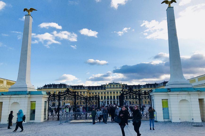 Schönbrunn Palace in Vienna.