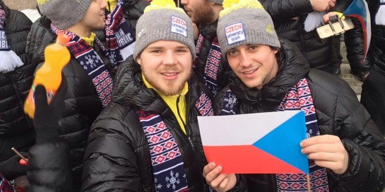 Hokejisté Jakub Kadlec a Michal Brzobohatý z Masarykovy univerzity.