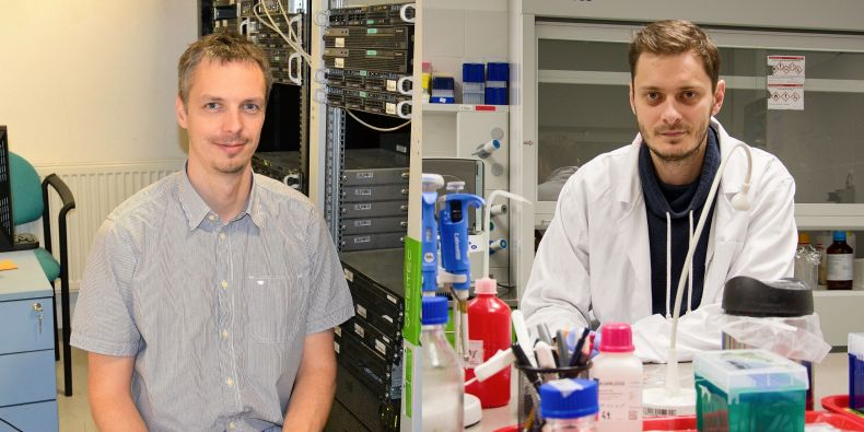 Robert Vacha and Gabriel Demo, Research Group Leaders at CEITEC MU